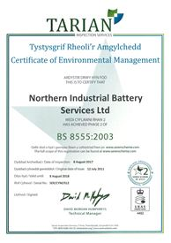 BS8555 Environmental Approval for another year